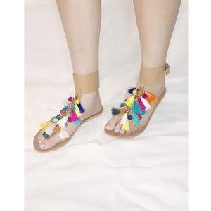 Steve Madden. Gladiator Colorful Flat Sandal.